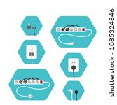 illustration of set of hexagon...   Shutterstock . vector #1085324846