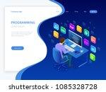 isometric developing... | Shutterstock .eps vector #1085328728
