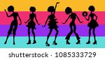 soul party time. dancers of...   Shutterstock .eps vector #1085333729