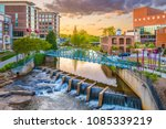 greenville  south carolina  usa ... | Shutterstock . vector #1085339219