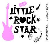 little rock star vector... | Shutterstock .eps vector #1085341646