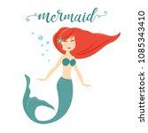cute mermaid cartoon character | Shutterstock .eps vector #1085343410