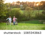 beautiful senior couple with... | Shutterstock . vector #1085343863
