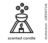 scented candle symbol icon... | Shutterstock .eps vector #1085347136