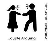 couple arguing icon isolated on ... | Shutterstock .eps vector #1085349608