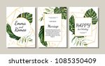 Set Of Card With Exotic Leaves...