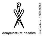 acupuncture needles icon... | Shutterstock .eps vector #1085350883