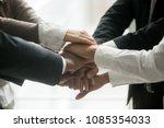 diverse multiracial business... | Shutterstock . vector #1085354033