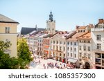 cityscape view on the old town...   Shutterstock . vector #1085357300