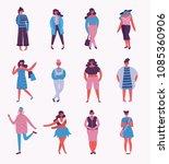 vector illustration in flat... | Shutterstock .eps vector #1085360906