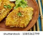 coconut crusted cod  coconut... | Shutterstock . vector #1085362799