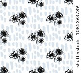 simple florals print with hand... | Shutterstock .eps vector #1085363789