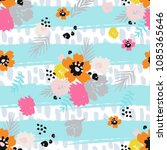 summer bright print seamless... | Shutterstock .eps vector #1085365646