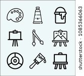 paint related set of 9 icons... | Shutterstock .eps vector #1085366063