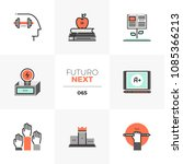 modern flat icons set of mental ... | Shutterstock .eps vector #1085366213