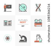 modern flat icons set of stem... | Shutterstock .eps vector #1085366216