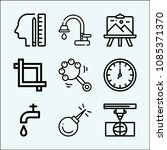 tool related set of 9 icons... | Shutterstock .eps vector #1085371370