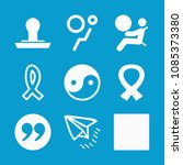 shapes related set of 9 icons...   Shutterstock .eps vector #1085373380