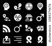 signs related set of 16 icons... | Shutterstock .eps vector #1085374676