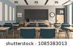 Blue And Gary Modern Classroom...