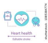 heart health concept icon....   Shutterstock .eps vector #1085384774