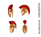 set of realistic spartan... | Shutterstock .eps vector #1085385956