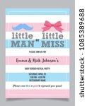 little man or little miss ... | Shutterstock .eps vector #1085389688