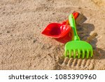 children's sandbox and colorful ... | Shutterstock . vector #1085390960