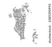 abstract schematic map of... | Shutterstock . vector #1085390993