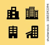 filled set of 4 apartment icons ... | Shutterstock .eps vector #1085392394