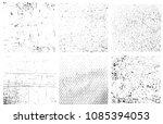 grunge overlay textures... | Shutterstock .eps vector #1085394053