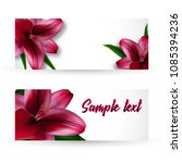 a set of postcards or... | Shutterstock .eps vector #1085394236