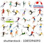 illustration of football... | Shutterstock .eps vector #1085396093