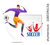 illustration of football...   Shutterstock .eps vector #1085396156
