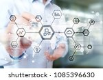 iot  automation  industry 4.0.... | Shutterstock . vector #1085396630