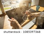 business structure diagram ... | Shutterstock . vector #1085397368