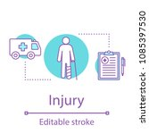 injury concept icon. emergency... | Shutterstock .eps vector #1085397530