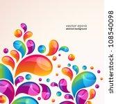 splash vector background cover... | Shutterstock .eps vector #108540098