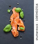 red fish trout with pepper and... | Shutterstock . vector #1085402516