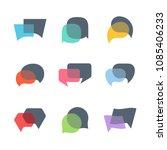 vector dialog speech bubbles ... | Shutterstock .eps vector #1085406233