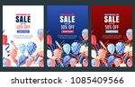 usa independence day. set of... | Shutterstock .eps vector #1085409566