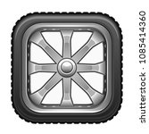 square wheel on a white... | Shutterstock .eps vector #1085414360