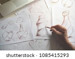 production designer sketching... | Shutterstock . vector #1085415293