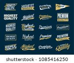 retro styled vector gold and... | Shutterstock .eps vector #1085416250