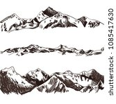 vector collection of sketched... | Shutterstock .eps vector #1085417630