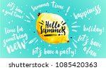 hello summer banner. trendy... | Shutterstock .eps vector #1085420363