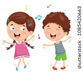 vector illustration of kids... | Shutterstock .eps vector #1085420663