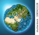 social media network concept.... | Shutterstock .eps vector #1085421128