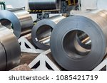 stock with rolls of sheet steel ... | Shutterstock . vector #1085421719