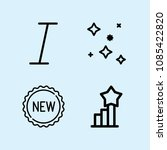 outline set of 4 shapes icons... | Shutterstock .eps vector #1085422820